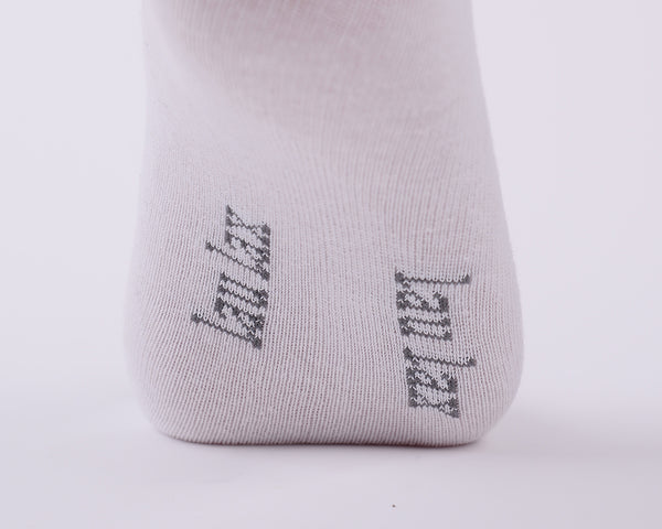 6 Pairs Unbreakable Toe Finest Combed Cotton White Socks