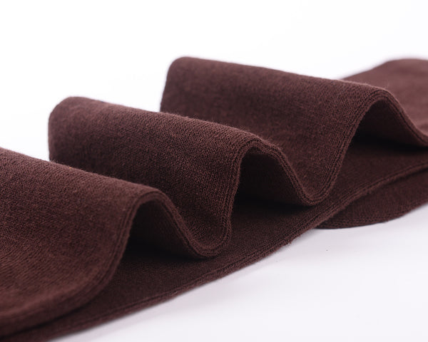 Laulax High Quality Finest Combed Cotton Over the Knee Socks- Coffee