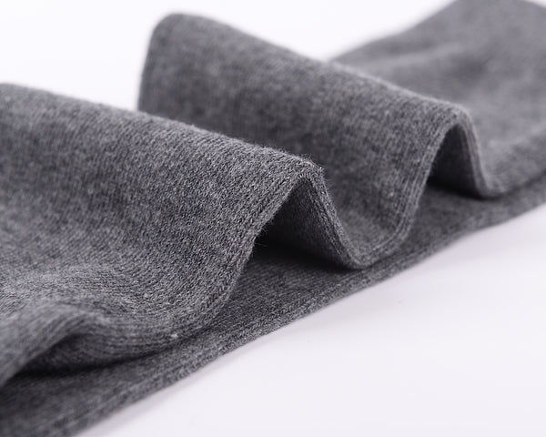 Finest Combed Cotton Knee High Socks - Plain Grey