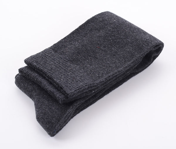 Finest Combed Cotton Knee High Socks - Plain Anthracite