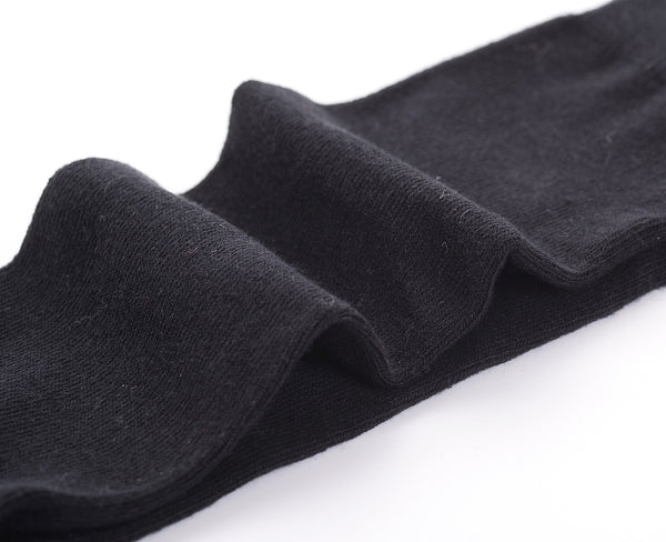 Finest Combed Cotton Knee High Socks - Plain Black