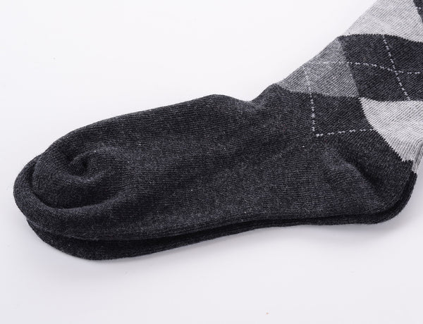 Finest Combed Cotton Thigh High socks - Diamond Black