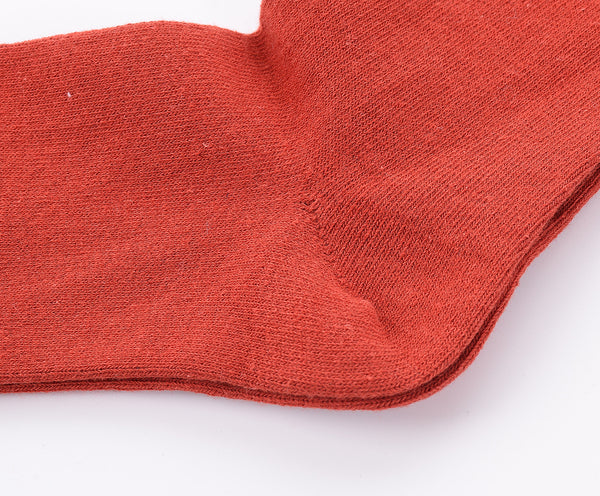Finest Combed Cotton Thigh High Socks - Red