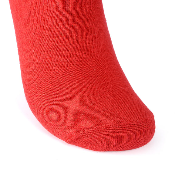 High Quality Formal Finest Combed Cotton Socks In Red