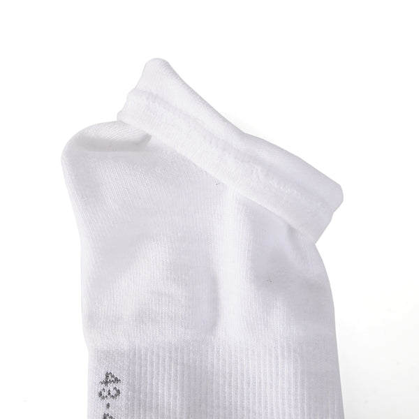 Laulax 6 Pairs Finest Combed Cotton Arch Support Trainer Socks, White, Size UK 9 - 11 / Europ 43 - 46