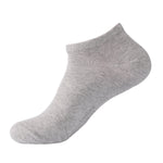 Laulax 6 Pairs Finest Combed Cotton Trainer Socks, Grey, Size UK 9 - 11 / Europ 43 - 46