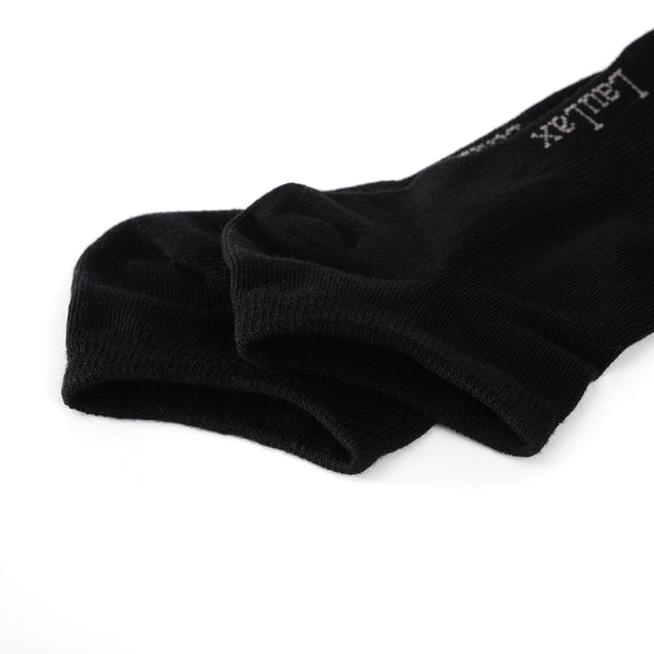Laulax 6 Pairs Finest Combed Cotton Trainer Socks, Black, Size UK 9 - 11 / Europ 43 - 46