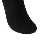 Laulax 6 Pairs Finest Combed Cotton Arch Support Trainer Socks, Black, Size UK 9 - 11 / Europ 43 - 46