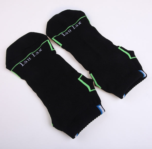 COOLMAX Professional Running Socks - Plantar Fasia Support - Black - Size UK 7 - 11