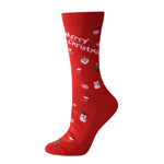 Laulax Ladies 6 Pairs Finest Combed Cotton Full Cushioned Christmas Socks, Size UK 3 - 8 / Europe 36 - 41, Gift Set