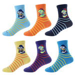 Cute Duck Laulax 6 Pairs Combed Cotton Boys Socks Gift set Size UK 6-8.5/ Europe 23-26