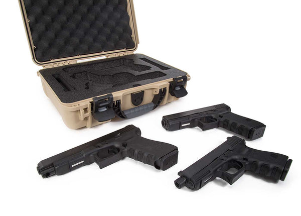 Built to organize, protect, carry and survive tough conditions, the waterproof NANUK 910 Glock® 2 Up Pistol case is impenetrable and indestructible with a lightweight tough NK-7 resin shell and PowerClaw superior latching system.