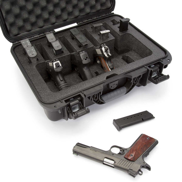 With two (2) reinforced eyelets for locking, you can store, secure and transport your expensive handguns with confidence.