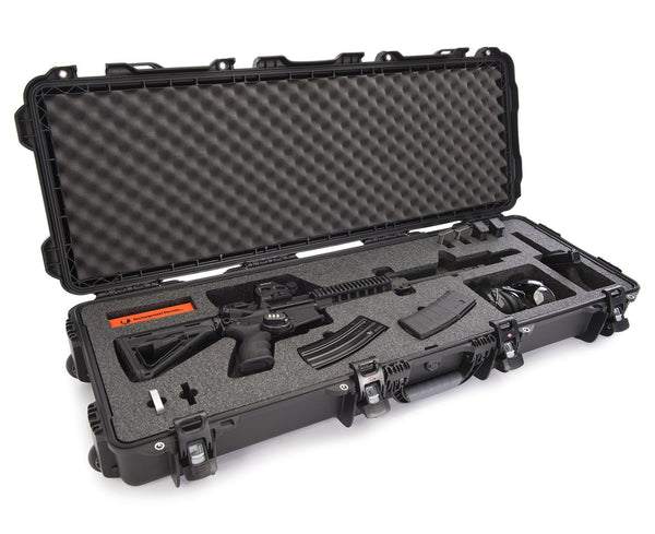 Built to organize, protect, carry and survive tough conditions, the 990 AR15 waterproof gun case is impenetrable and indestructible