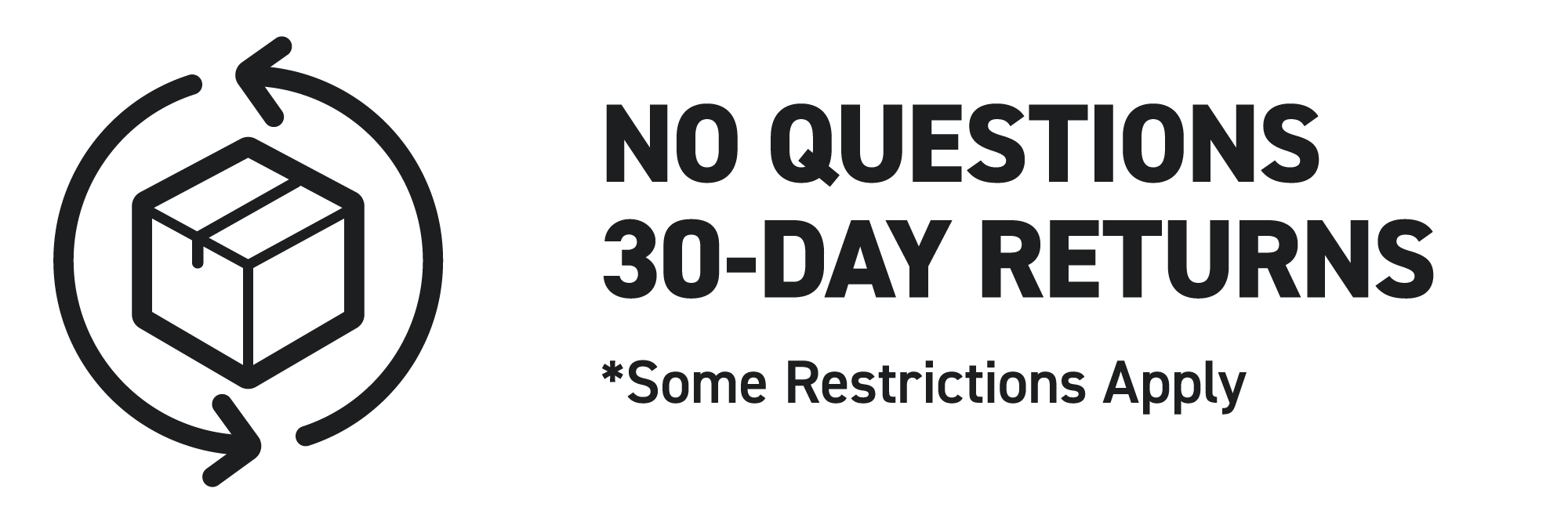 Get 30-Day Return with No question Asked for all products in resellable condition.