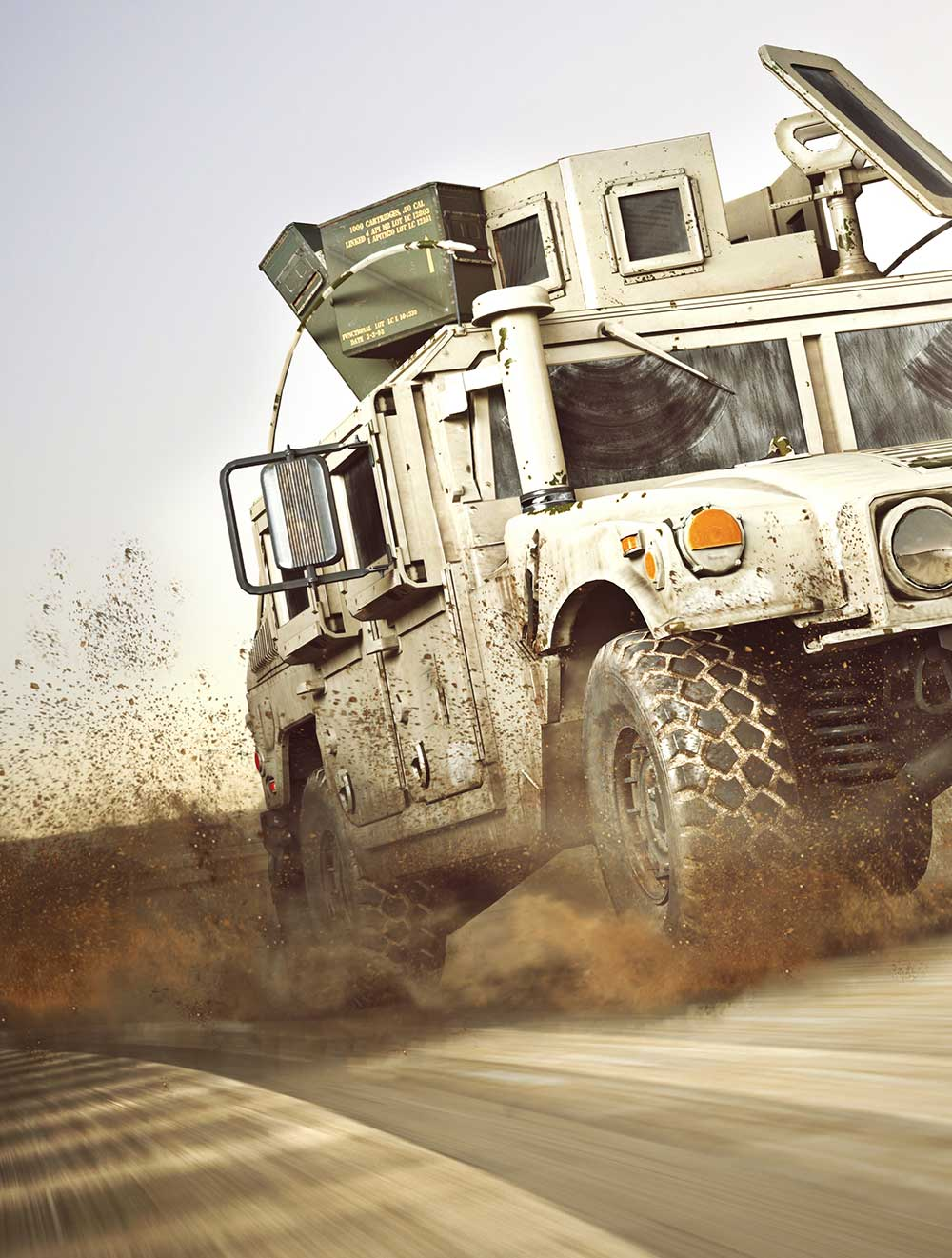 Military Truck in the Sand