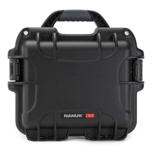 Perfect to organize, protect and carry your bulkier but still compact items, the NANUK 905 waterproof hard case is impenetrable and indestructible with a lightweight, tough resin shell and double side-mounted PowerClaw superior latching system.