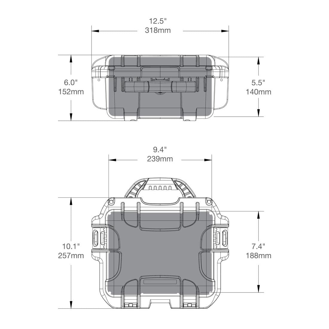 Specifications for the NANUK 905 Hard Case