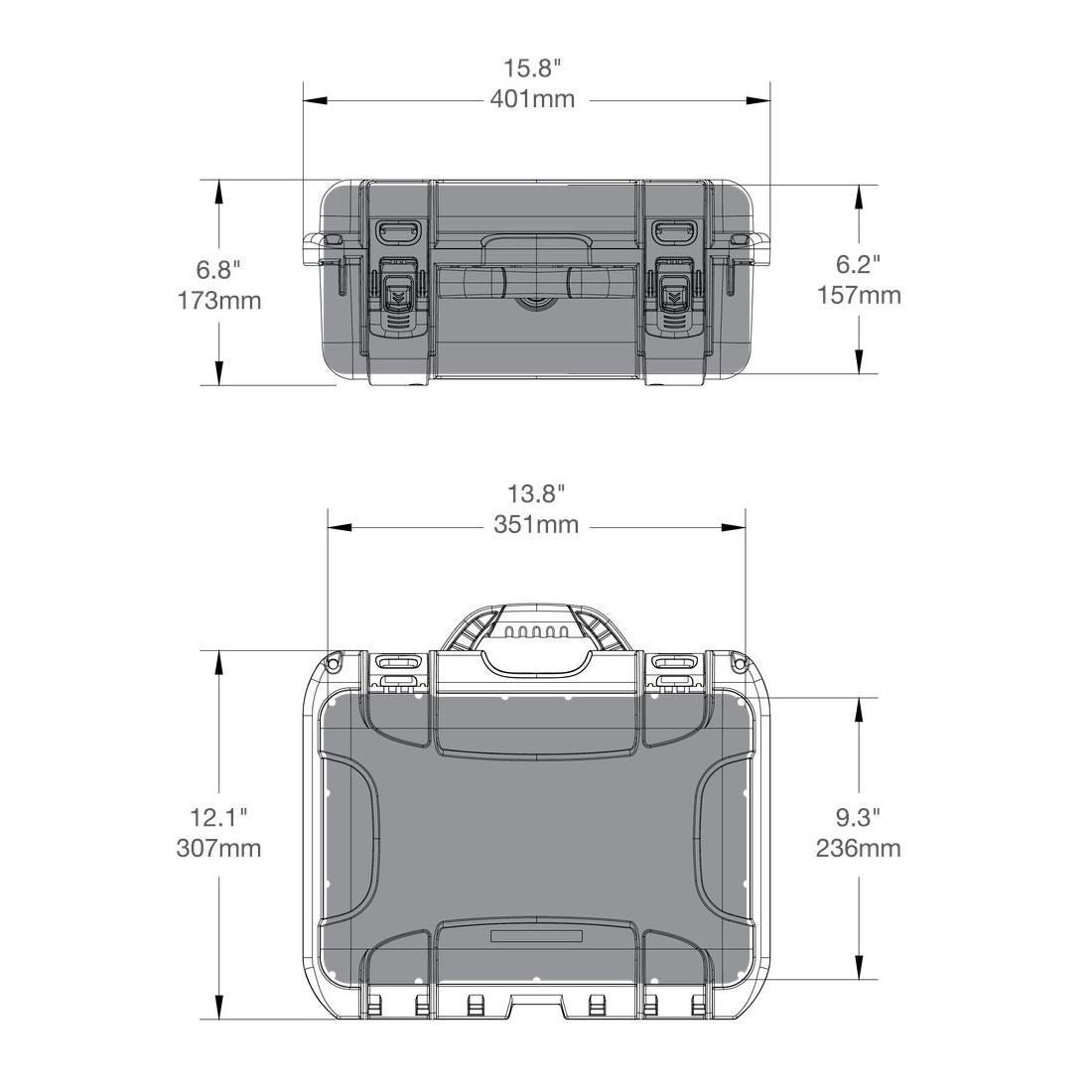 NANUK 915 Hard Case Specifications Dimensions
