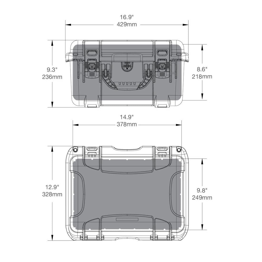 NANUK 918 Hard Case Specifications Dimensions