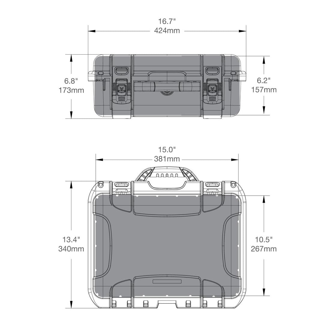 NANUK 920 Hard Case Specifications Dimensions