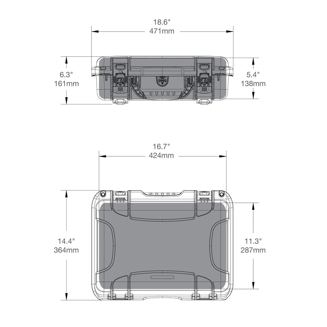 NANUK 923 Hard Case Specifications Dimensions
