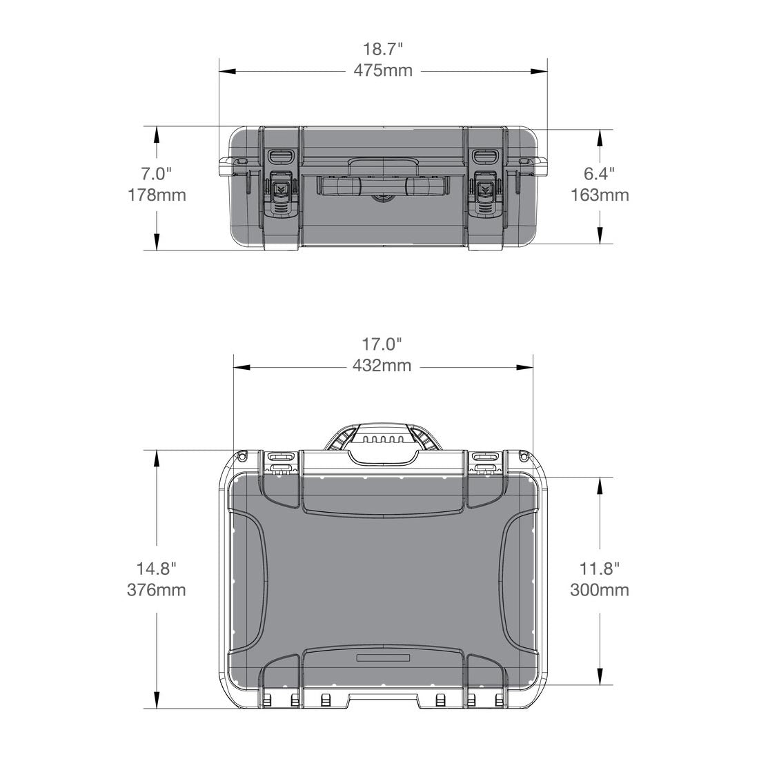 NANUK 925 Hard Case Specifications Dimensions