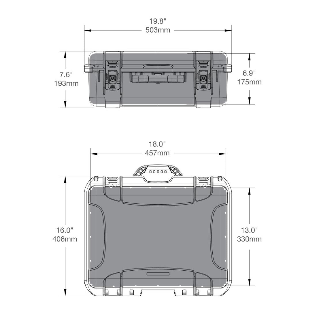 NANUK 930 Hard Case Specifications Dimensions