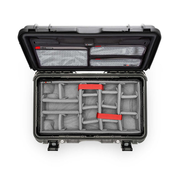 NANUK 935 with Padded Dividers and Lid Organizer