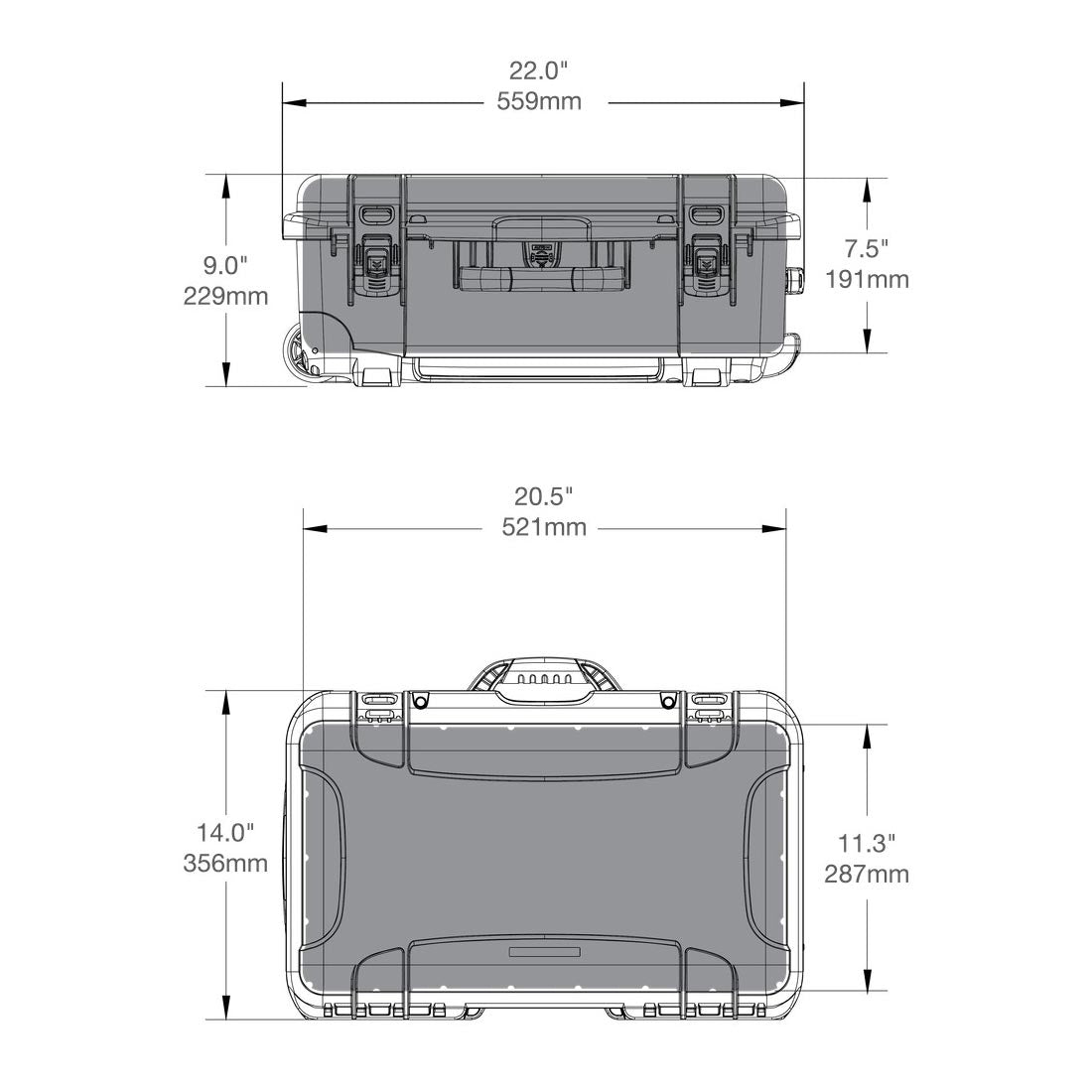 NANUK 935 Hard Case Specifications Dimensions