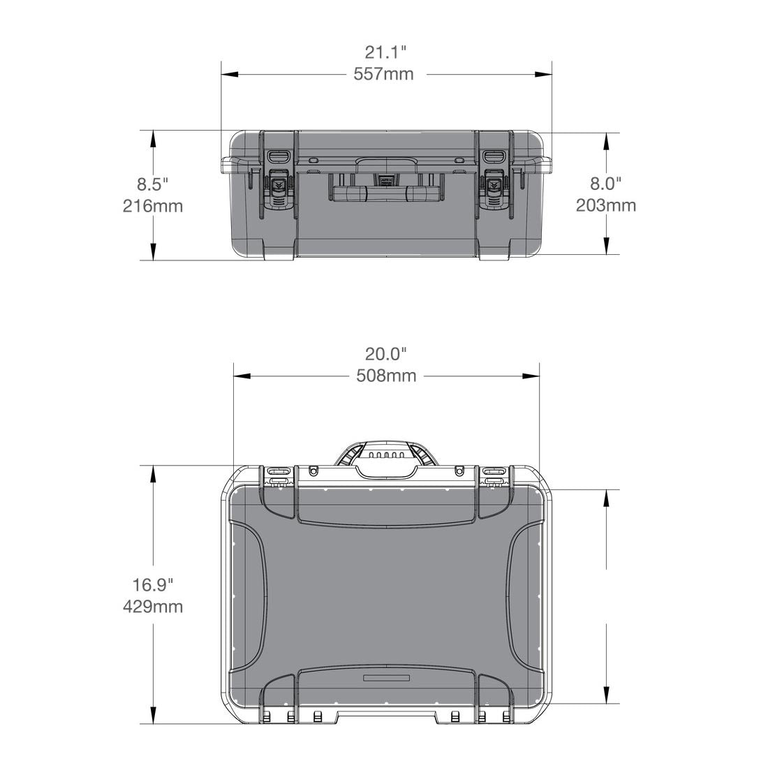 NANUK 940 Hard Case Specifications Dimensions