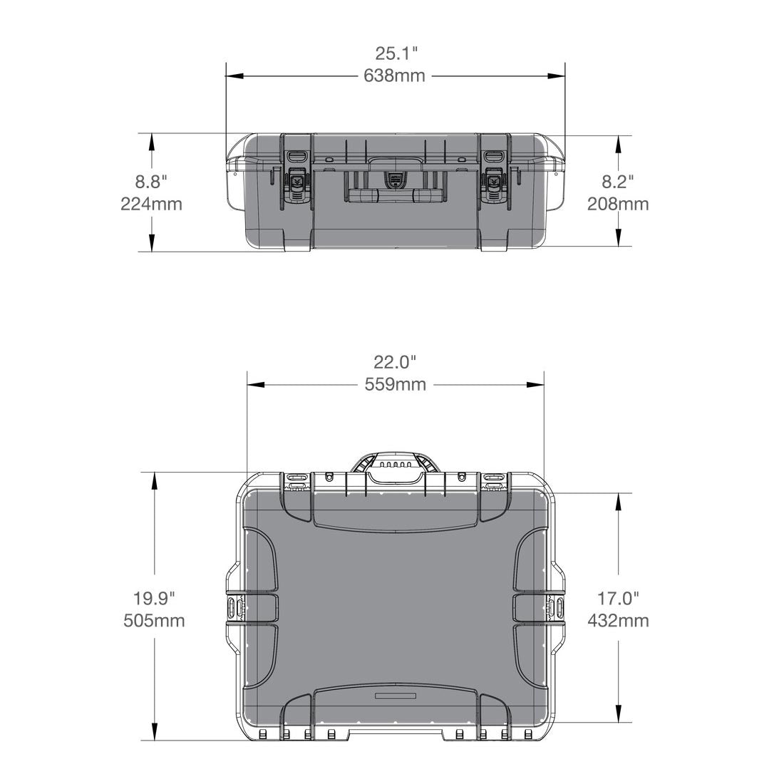 NANUK 945 Hard Case Specifications Dimensions