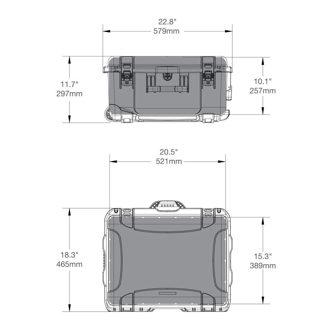 NANUK 950 Hard Case Specifications Dimensions