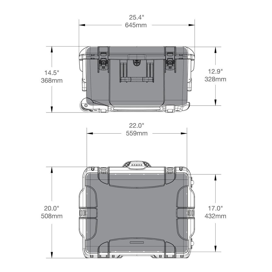 NANUK 960 Hard Case Specifications Dimensions