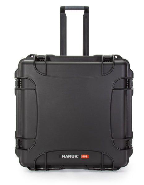 With more than 275 cubic inches of capacity, the NANUK 968 waterproof case with retractable handle and easy-glide wheels can store and haul a whole lot of gear.