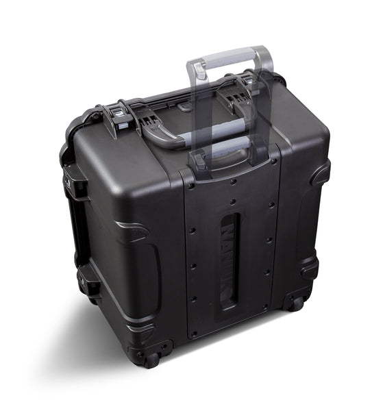 Three soft-grip handles make this wheeled case one of the most convenient on the market.