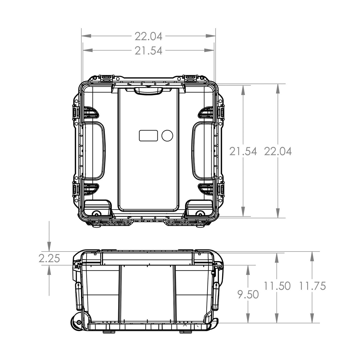 NANUK 968 Hard Case Specifications Dimensions