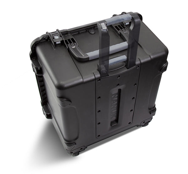 The NANUK 970 protective case adds the convenience of a retractable handle and super smooth wheels to make it easier to travel with personal and professional equipment