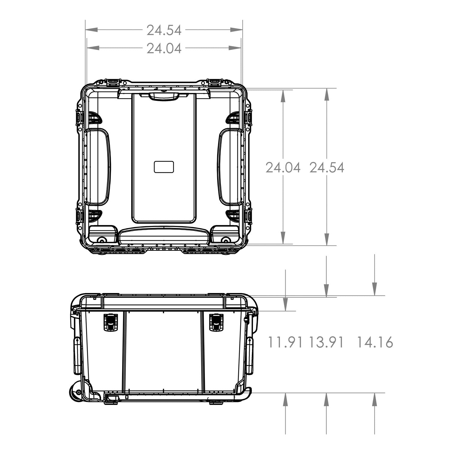NANUK 970 Hard Case Specifications Dimensions