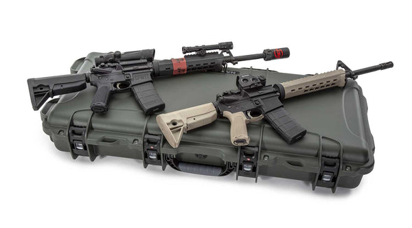 """The high-grade pre-cut foam is engineered to fit a standard 36"""" AR15 along with space for up to eight (8) magazines, the high-quality PEF closed cell insert also features storage areas to accommodate popular accessories and two dedicated slots for desiccant cannisters."""
