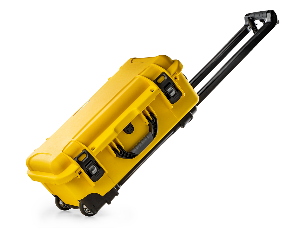 Nanuk 935 in Yellow with wheels to transport Medical Equipment