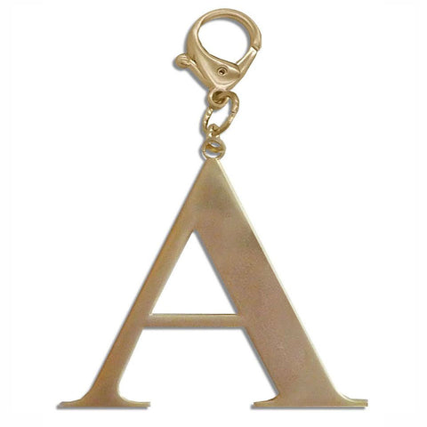 Alpha Chapter Handbag Charm Keychain GOLD
