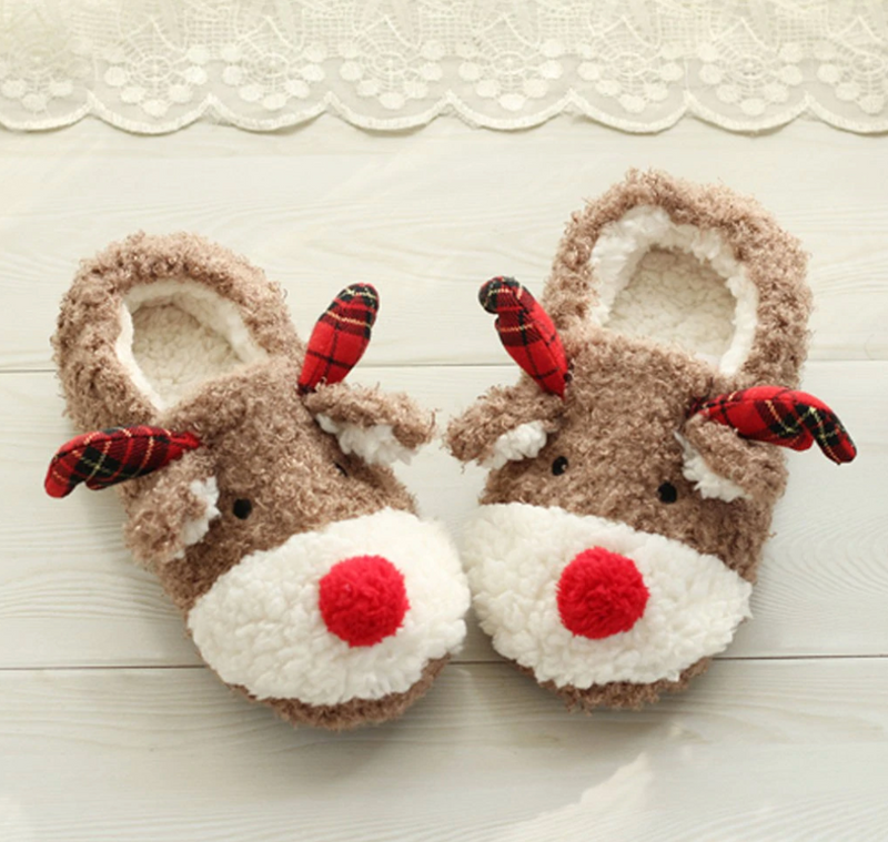 Reindeer Christmas Slippers