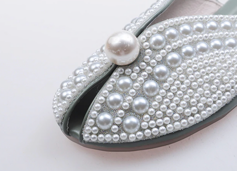 Cinderella Pearls Slippers