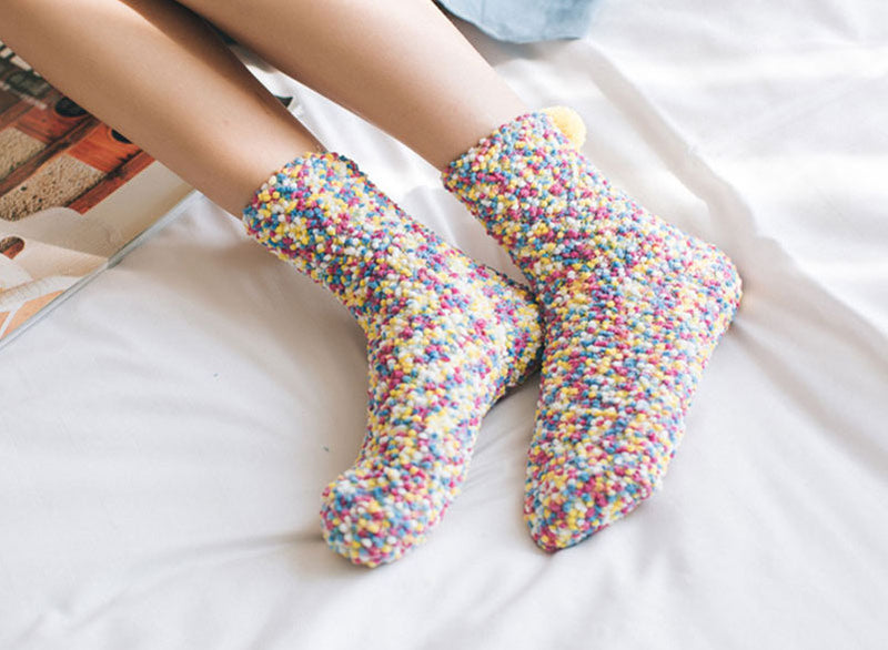 Pompom Multicolor Shocks