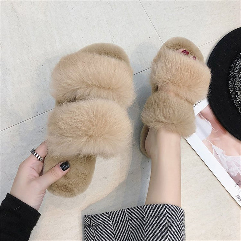 The TOP Fluffy Beige Sandals
