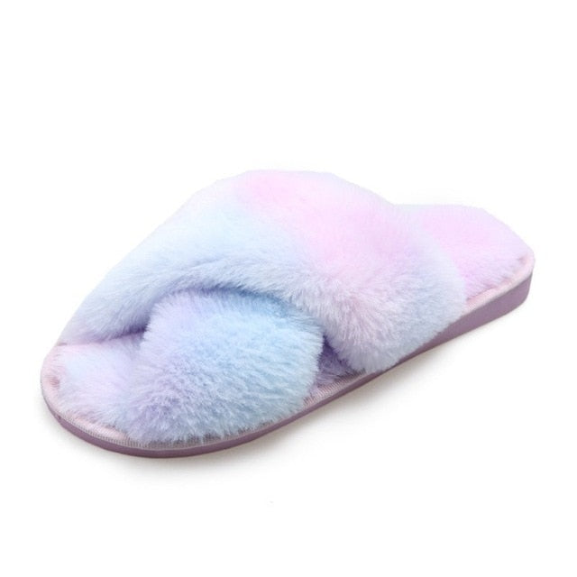 Tie Dye Fluffy Slippers