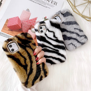 Fluffy Animal Print Iphone case