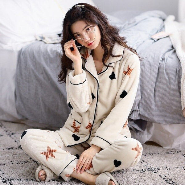 Fluffy Pajamas Set