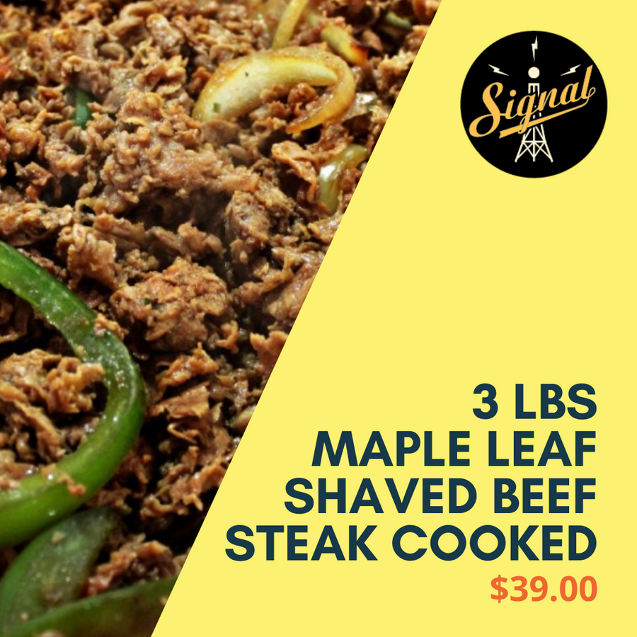 MAPLE LEAF SHAVED BEEF STEAK COOKED - 3 Lbs